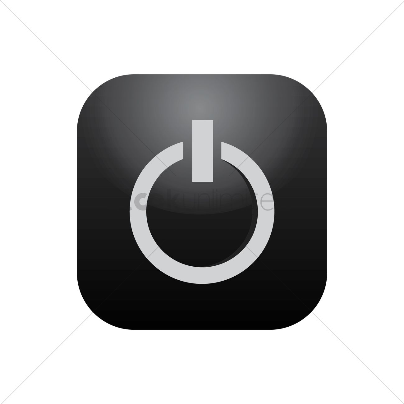 Power Off Icon Vector Image 1814402 Stockunlimited