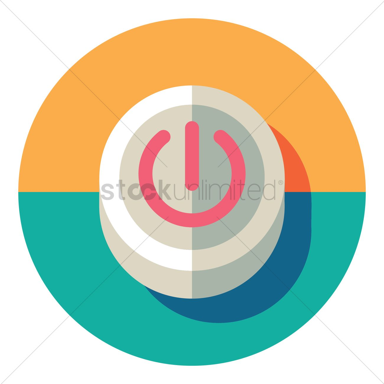 Power Onoff Button Icon Vector Image 1309018 Stockunlimited