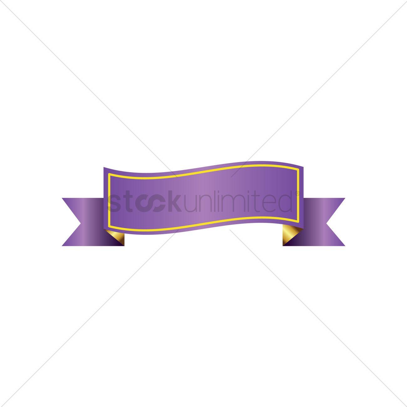purple ribbon banner design vector image 1987770 stockunlimited