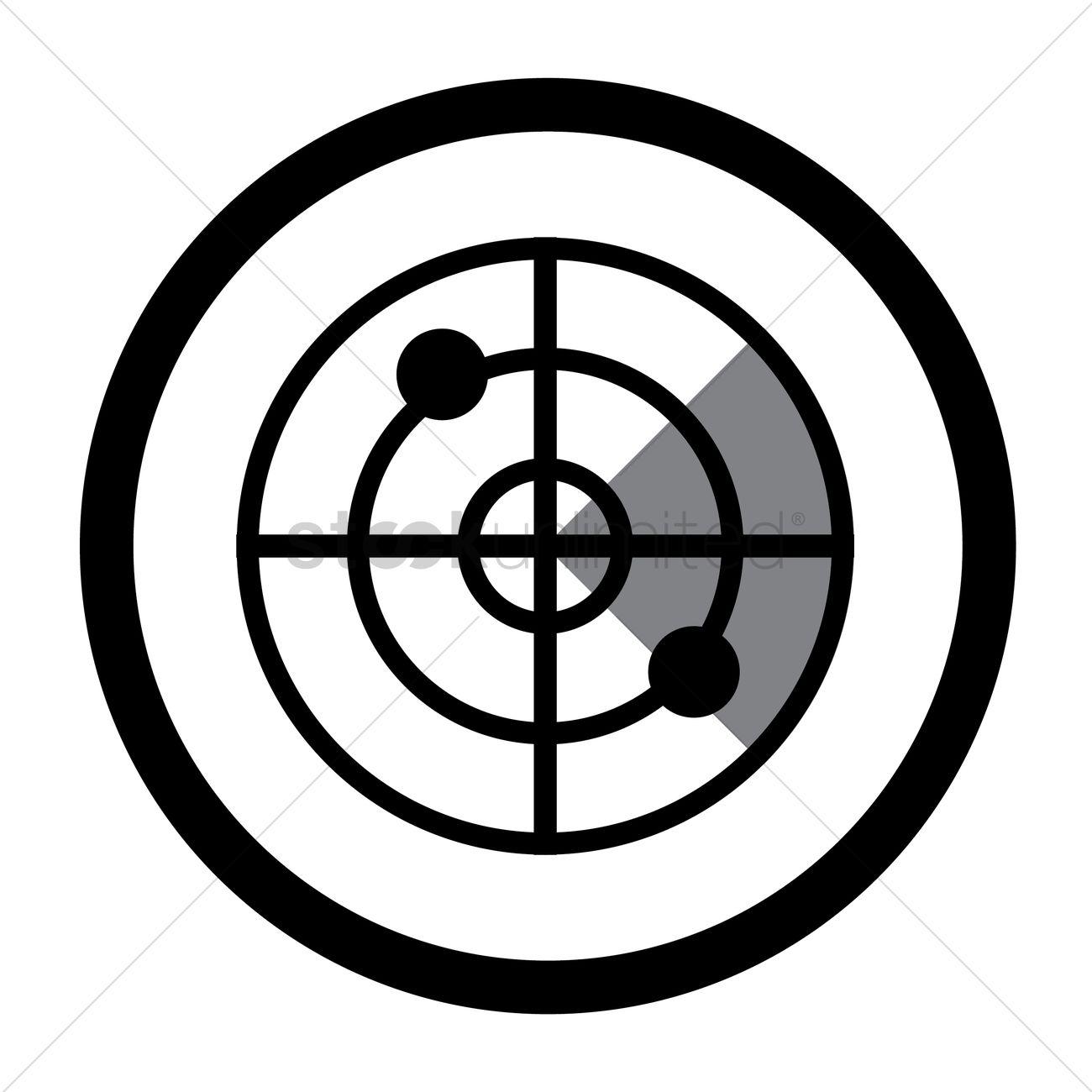 Radar Icon Vector Image 1648806 Stockunlimited