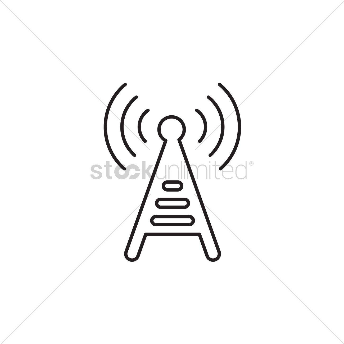Radio tower Vector Image - 1293750 | StockUnlimited