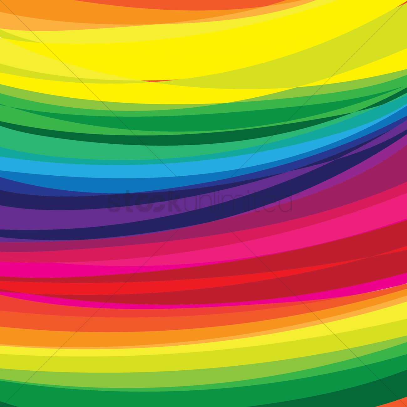 Rainbow curve background Vector Image - 1527074 | StockUnlimited
