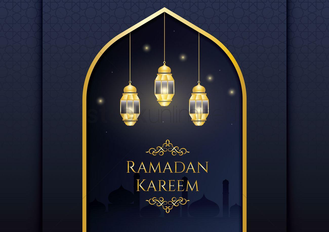 Ramadan Kareem Greeting Design Vector Image 1989490 Stockunlimited
