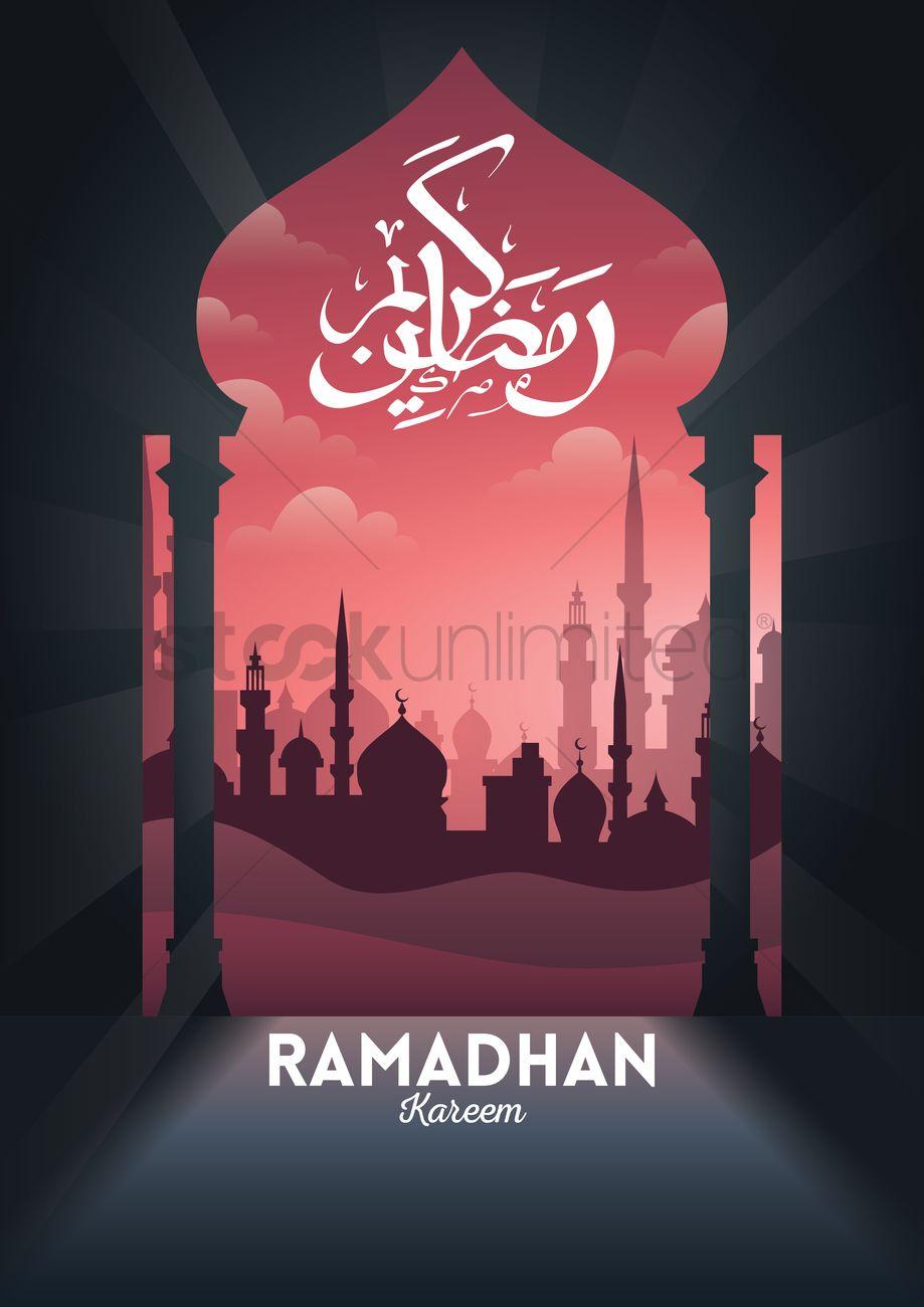 Ramadan Kareem Greeting Design Vector Image 1990090 Stockunlimited