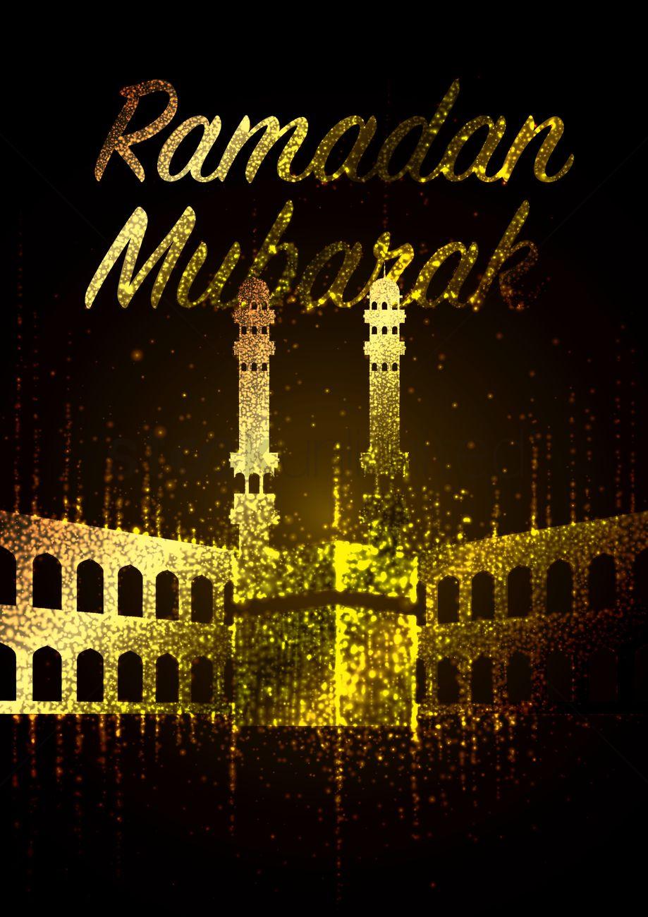 Ramadan mubarak greeting vector image 1826906 stockunlimited ramadan mubarak greeting vector graphic m4hsunfo