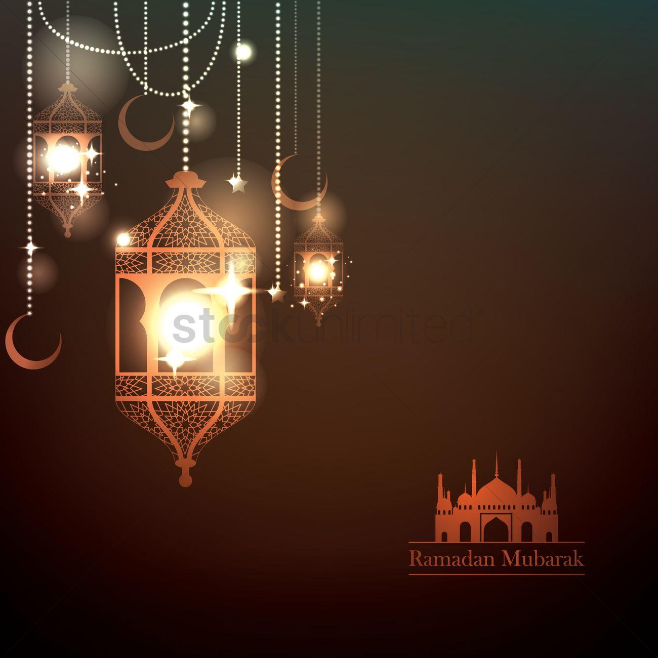 ramadan mubarak greeting vector image 1826982 stockunlimited