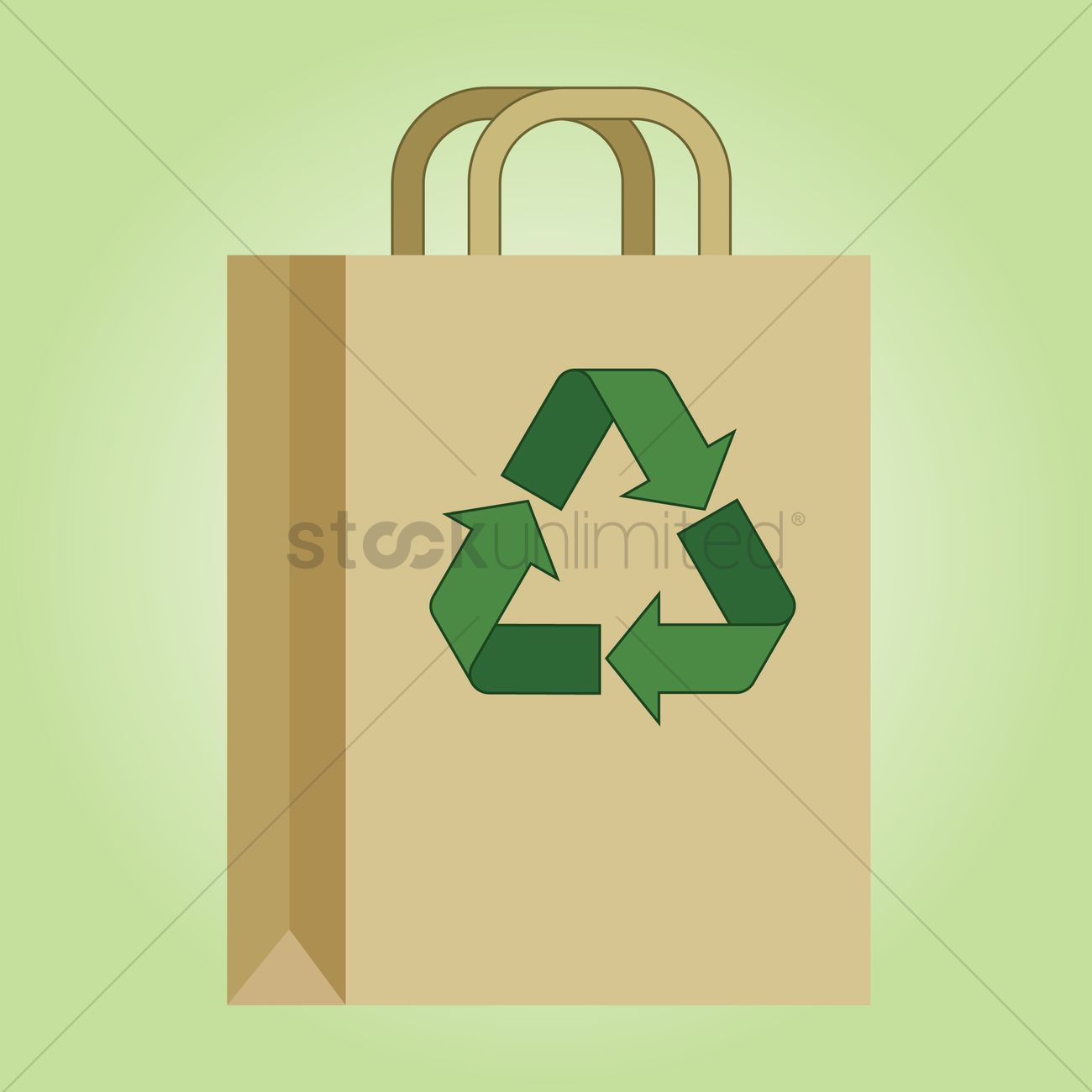 Free Recycling Bag Vector Graphic