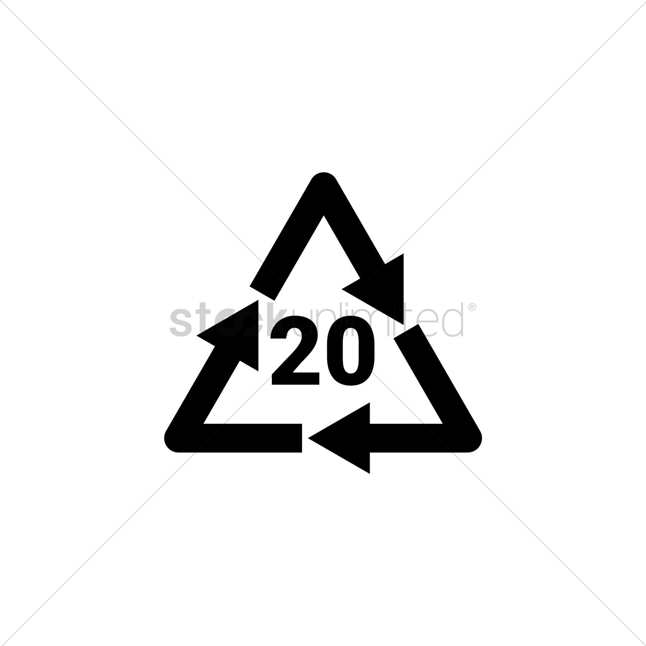 Recycling Code 20 Pap Vector Image 2026630 Stockunlimited