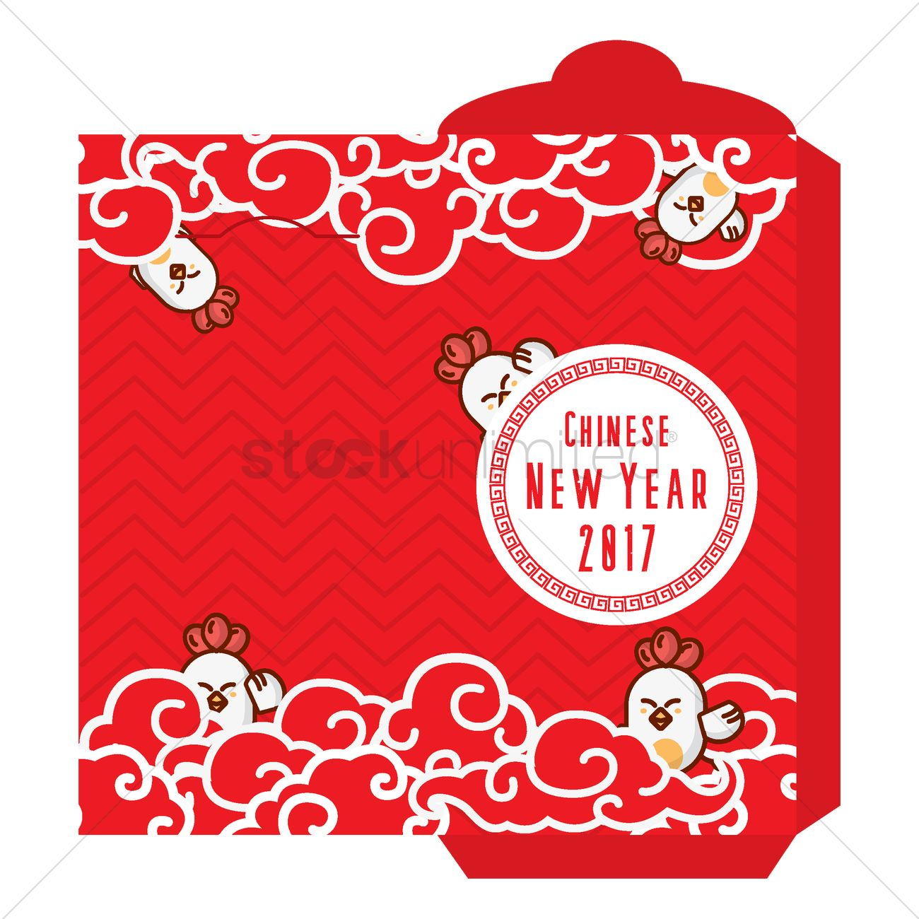 red envelope template vector graphic