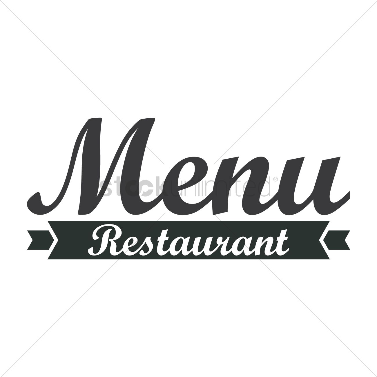 restaurant menu logo icon vector image - 1710150 | stockunlimited