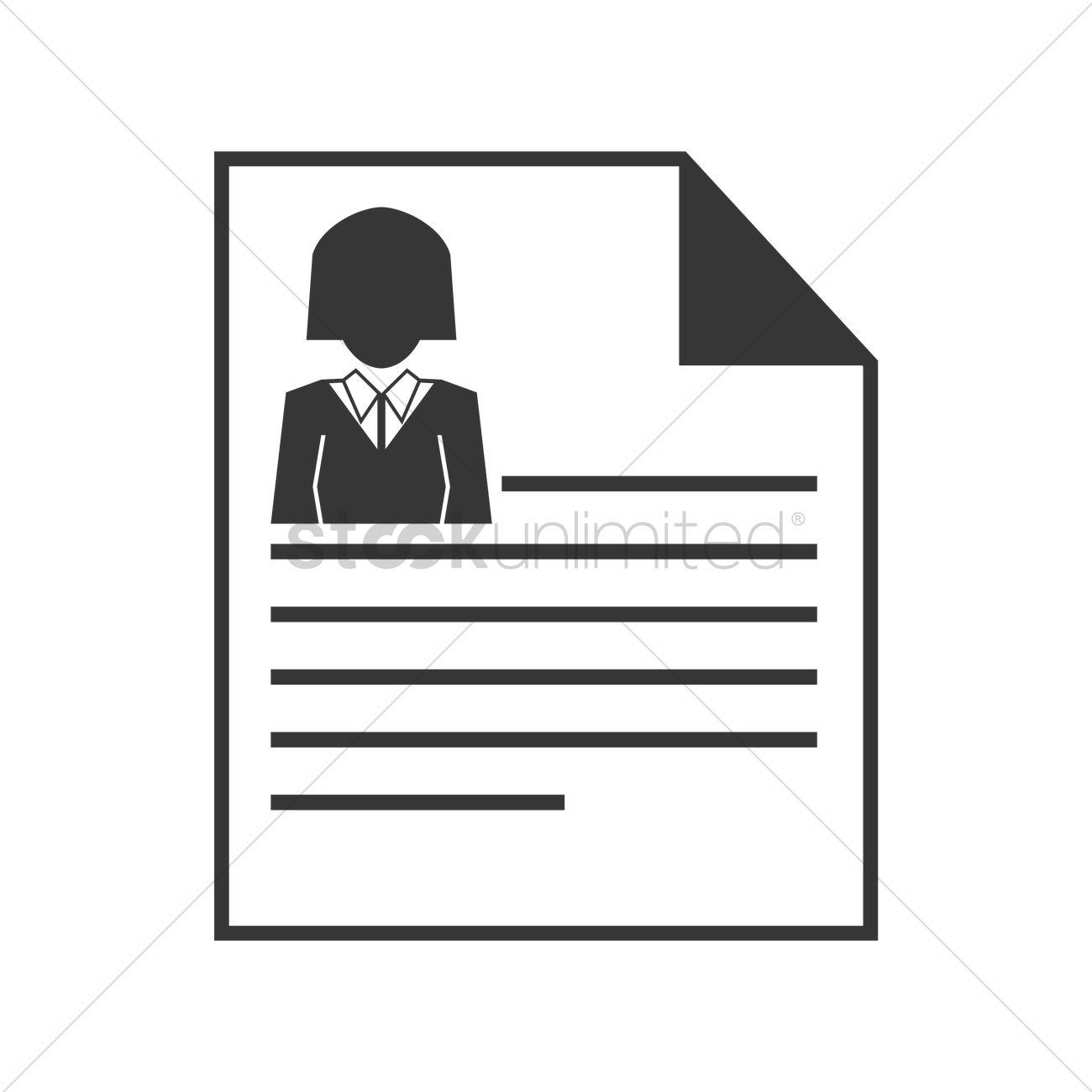 resume icon vector graphic