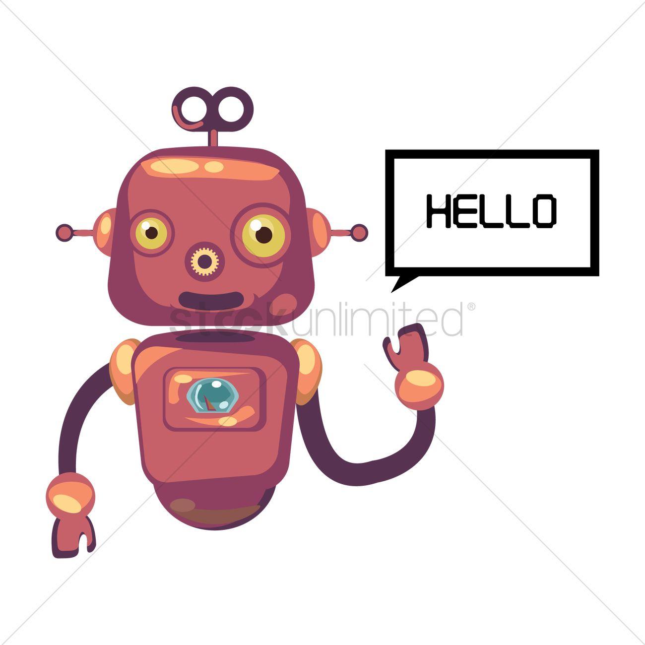 robot saying hello vector image 1340574 stockunlimited
