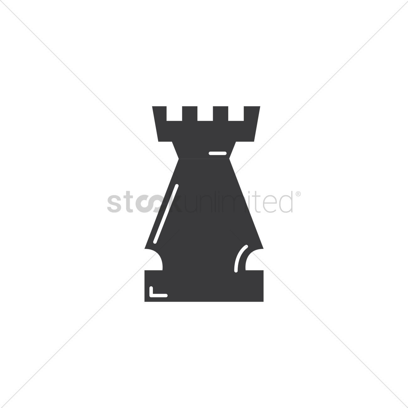 Rook chess piece Vector Image - 1951126 | StockUnlimited