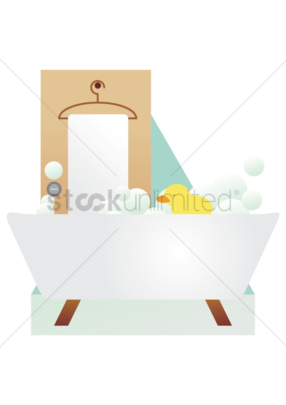 Rubber duck floating in a tub Vector Image - 1486906 | StockUnlimited