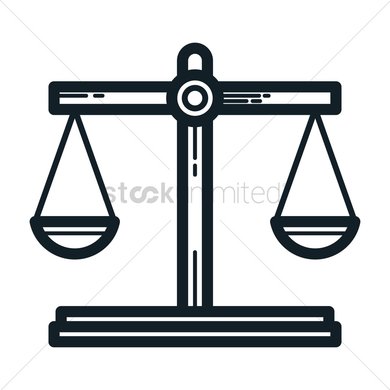 Scales Of Justice Vector Image 1988898 Stockunlimited