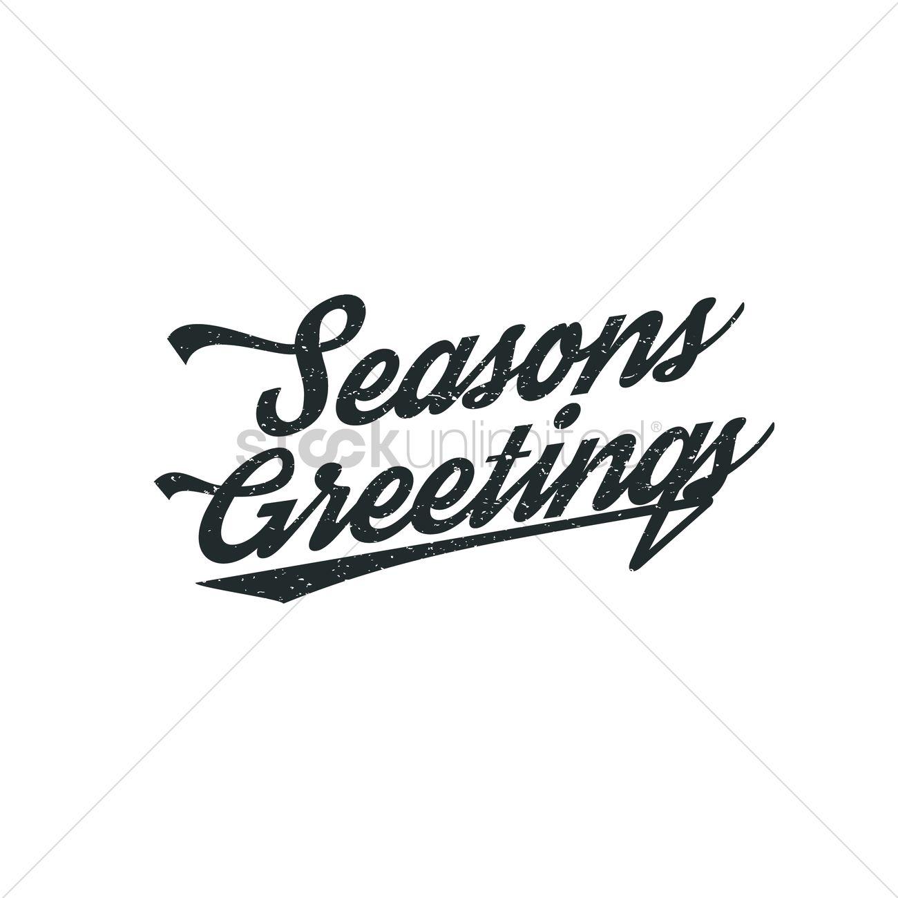 Seasons Greetings Hand Lettering Vector Image 1827250 Stockunlimited