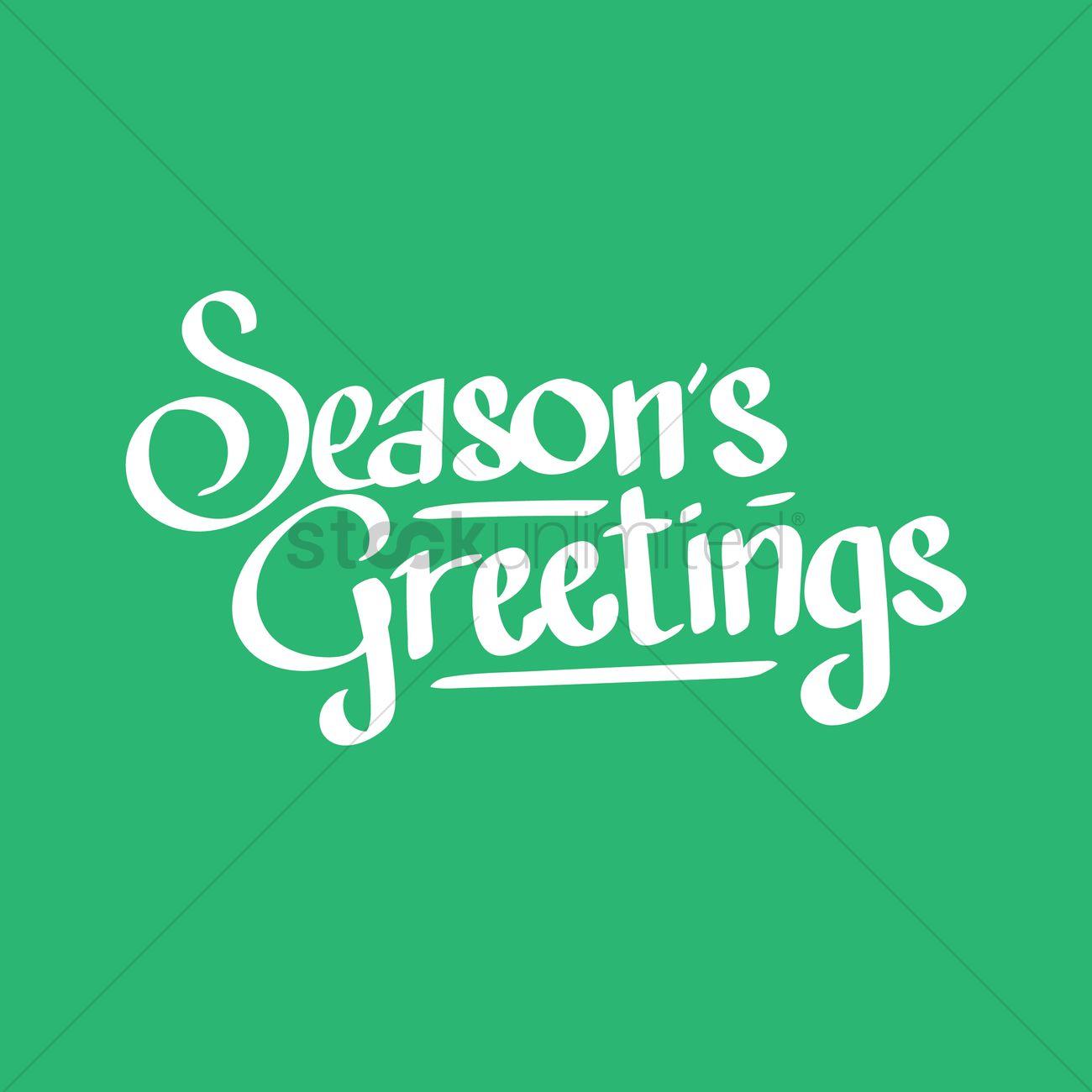 Seasons Greetings Vector Image 1924226 Stockunlimited