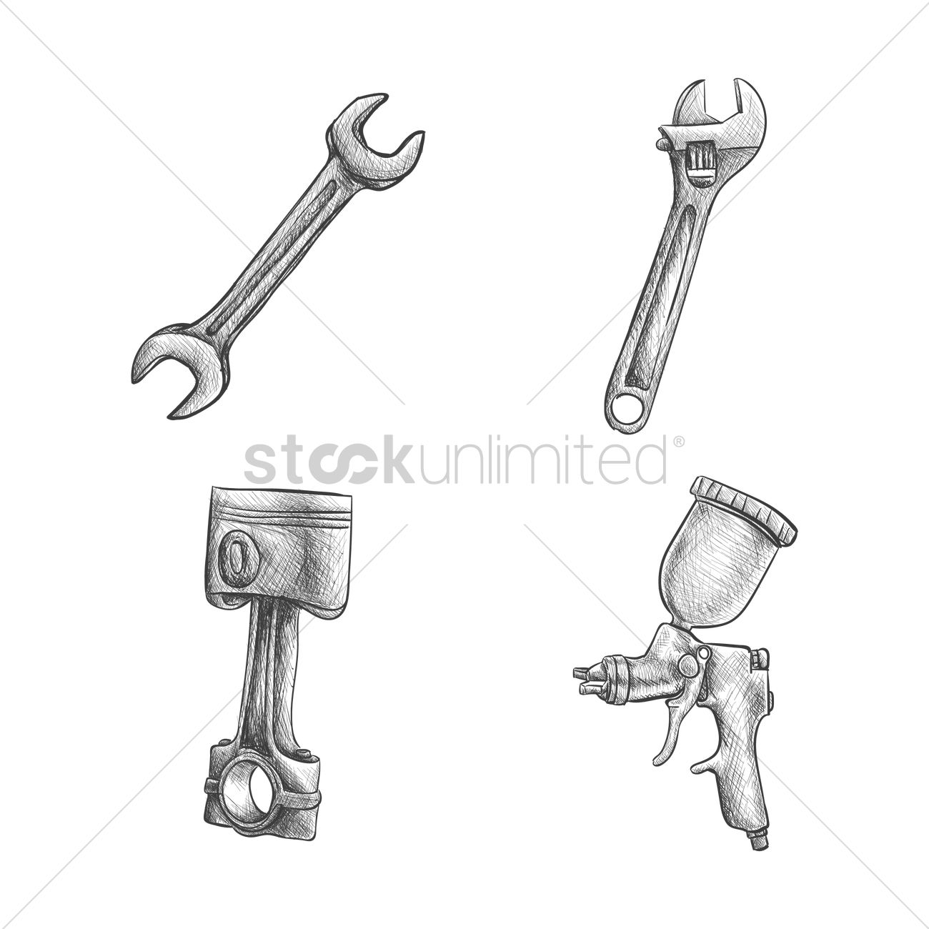 Set of car parts Vector Image - 1636026 | StockUnlimited
