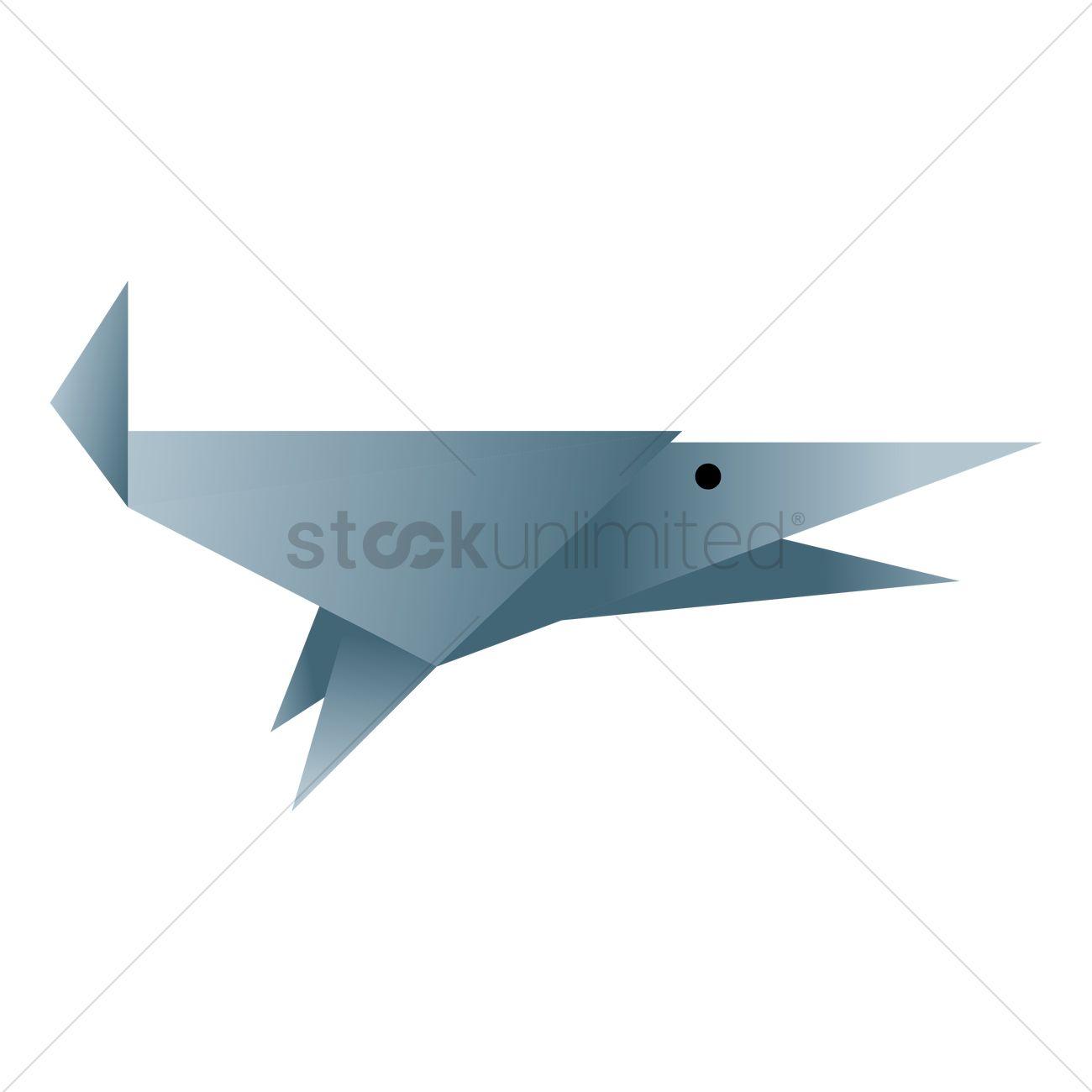 Free Shark Origami Vector Image 1472058 Stockunlimited