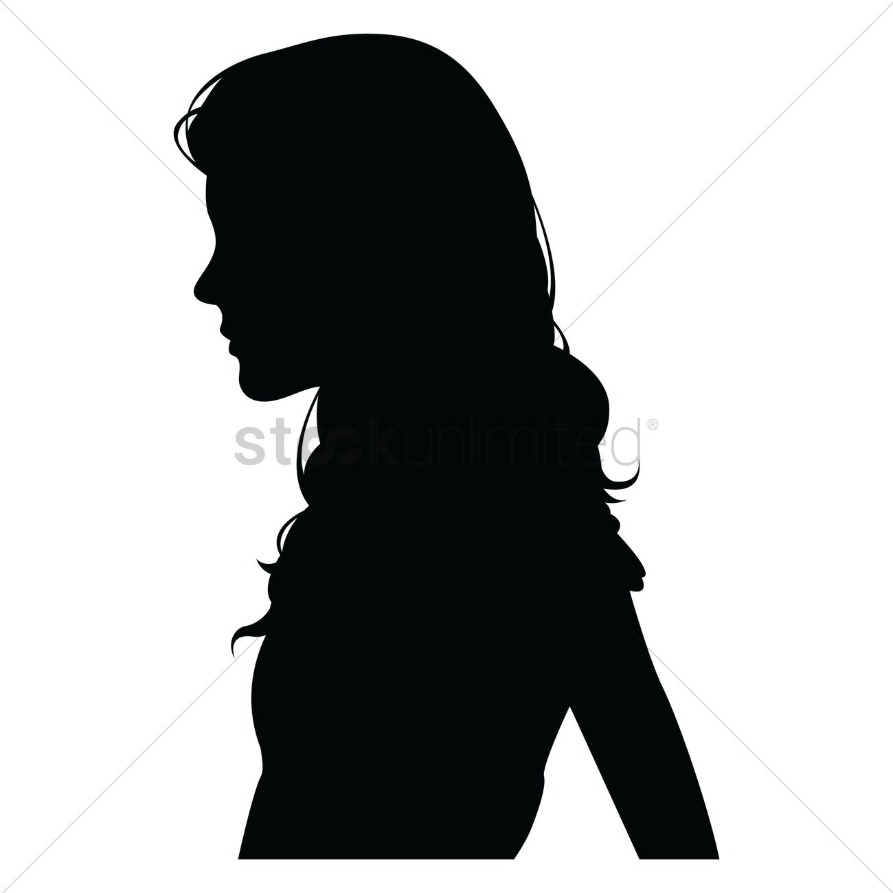 side view of a silhouette woman vector image 1358826 stockunlimited