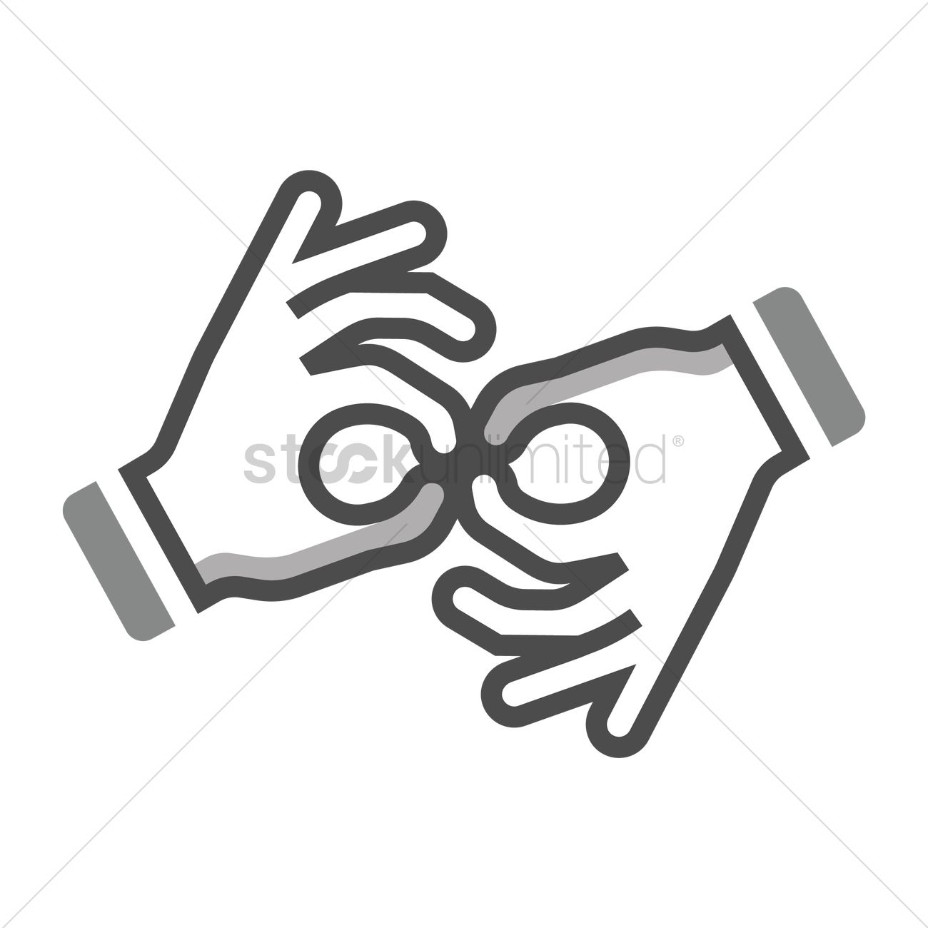 Sign Language Icon Vector Image 1956490 Stockunlimited