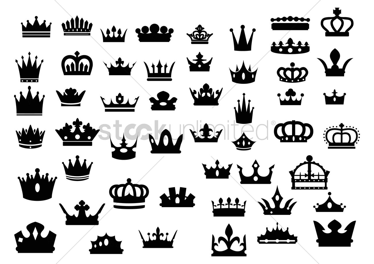 Silhouette Crown Set Vector Image 1515566 Stockunlimited Contact crown silhouette boutique on messenger. silhouette crown set vector image
