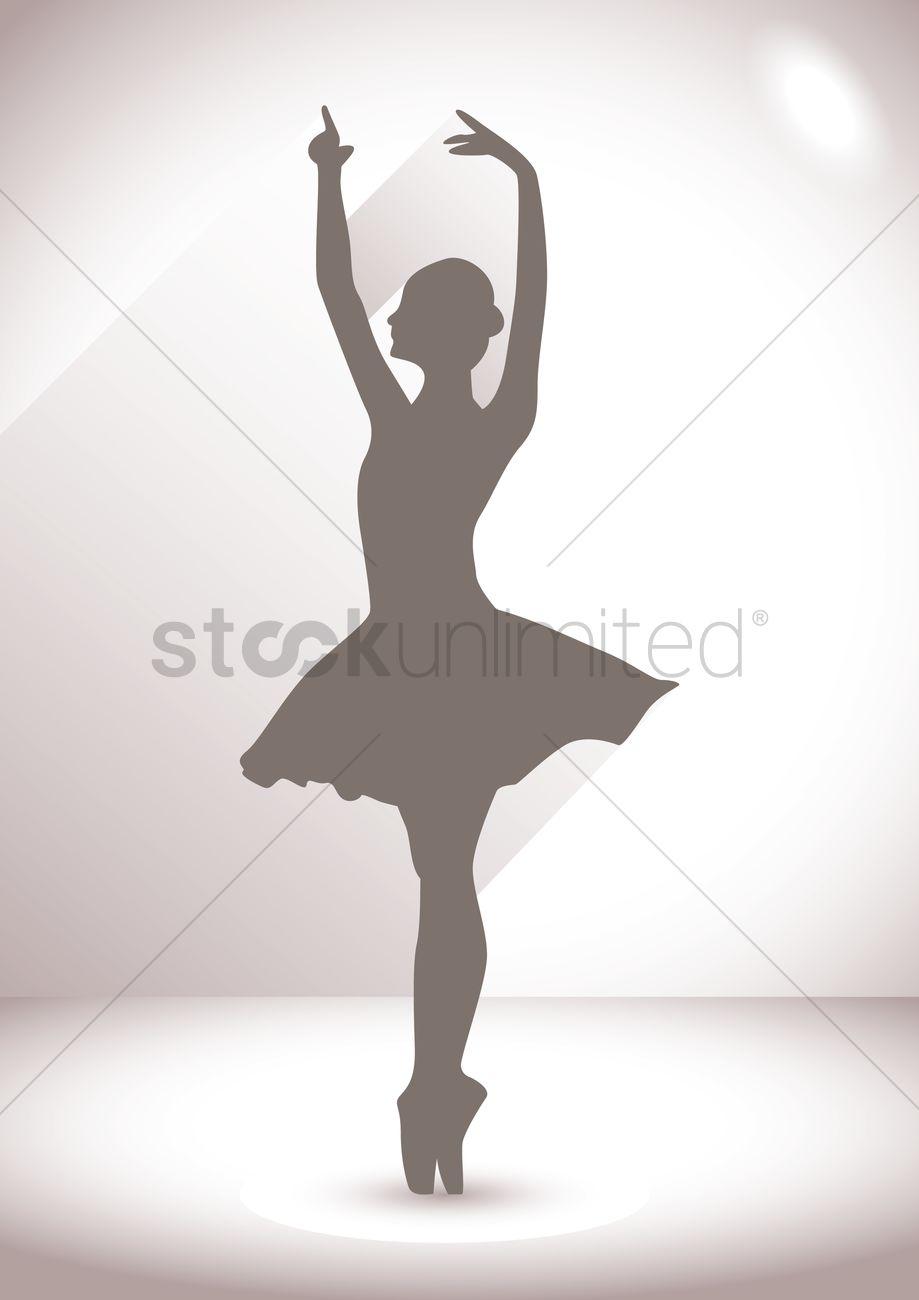 silhouette of ballerina vector image 1438370 stockunlimited rh stockunlimited com ballerina victor ballerina vector art