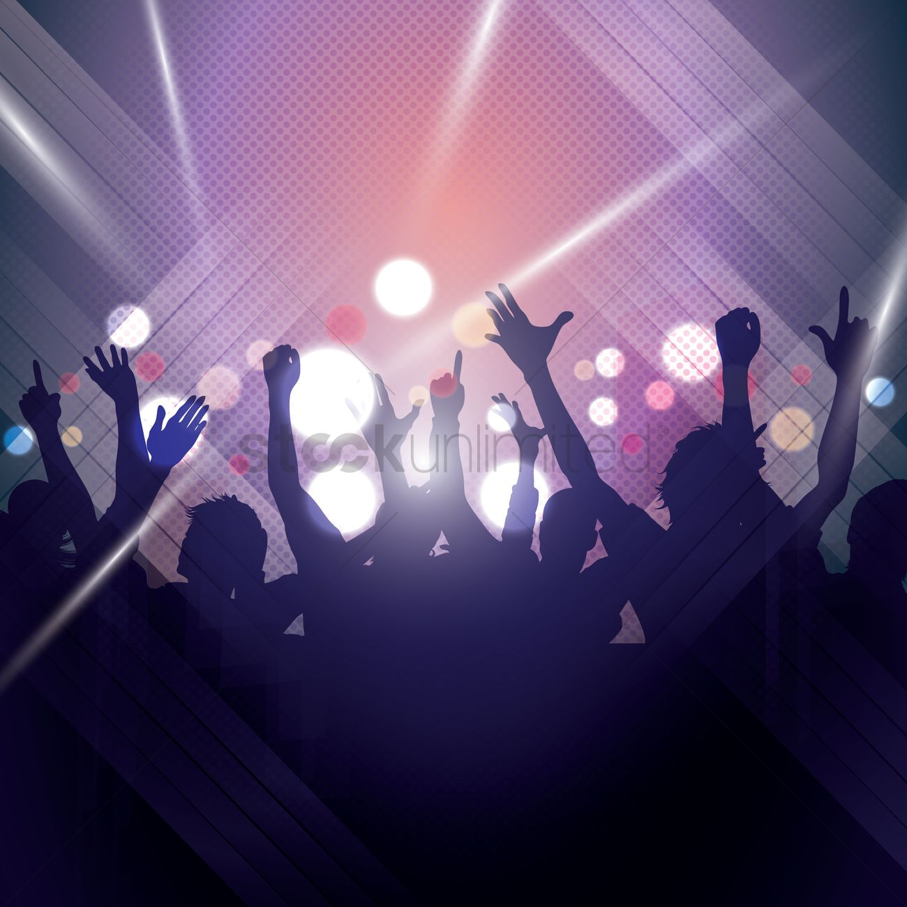 silhouette of people partying vector image 1936042 stockunlimited