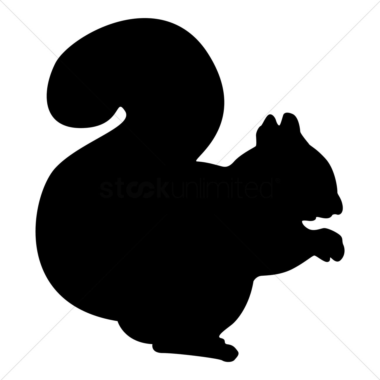 silhouette of squirrel vector image    stockunlimited - silhouette of squirrel vector graphic