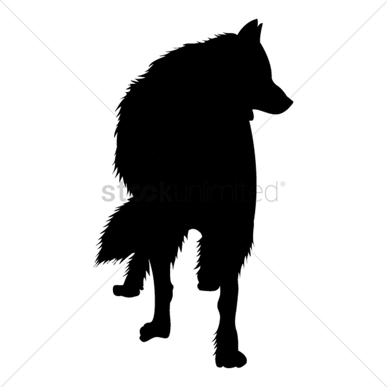 silhouette of wolf vector graphic