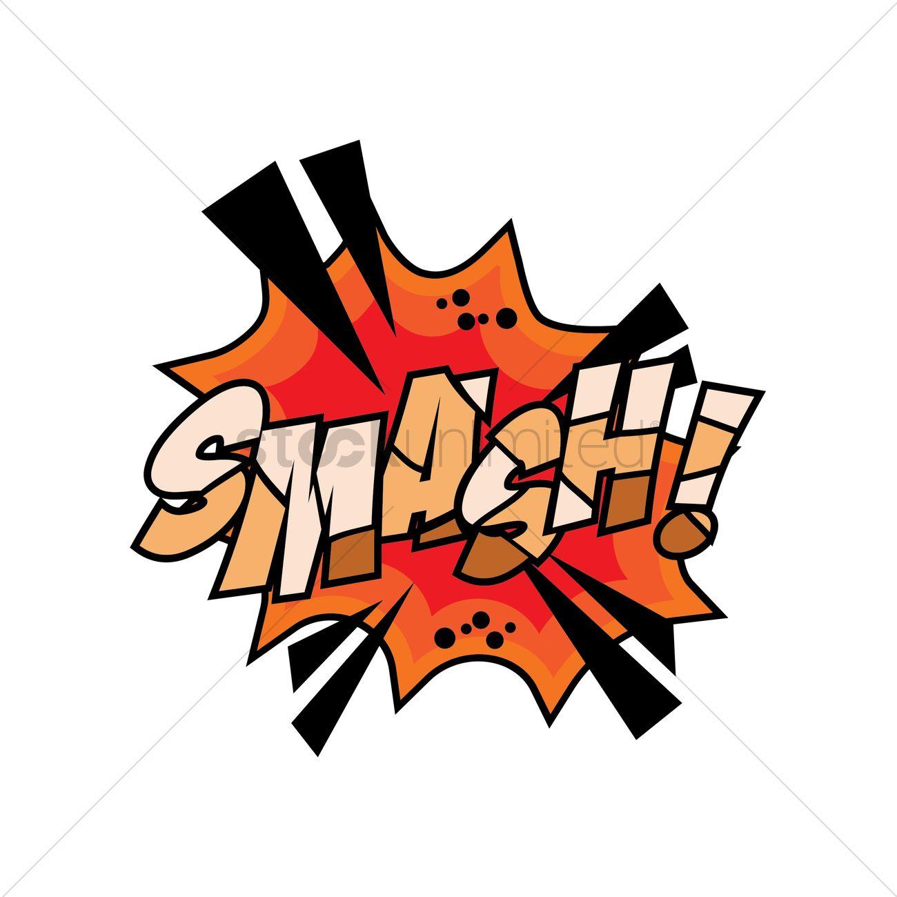 smash comic speech bubble vector image 1710886 stockunlimited