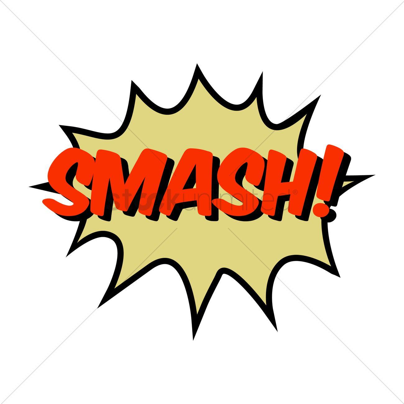 smash comic speech bubble vector image 1710998 stockunlimited