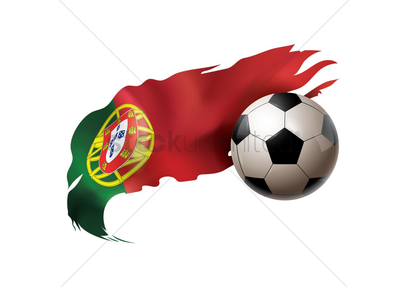 Soccer Ball With Portugal Flag Vector Image 1817758 Stockunlimited