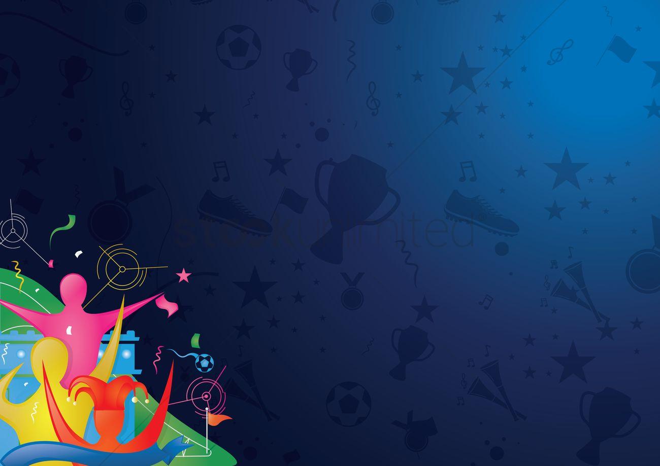 soccer wallpaper vector graphic