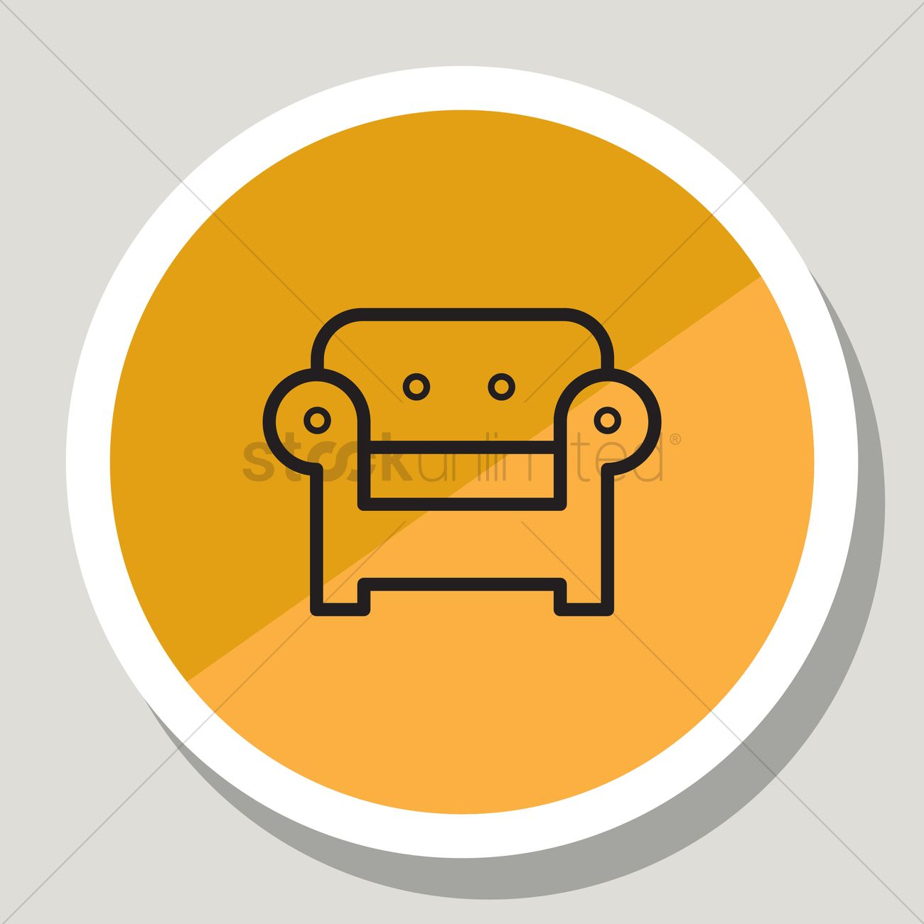 Sofa Icon Vector Image 1332950 Stockunlimited