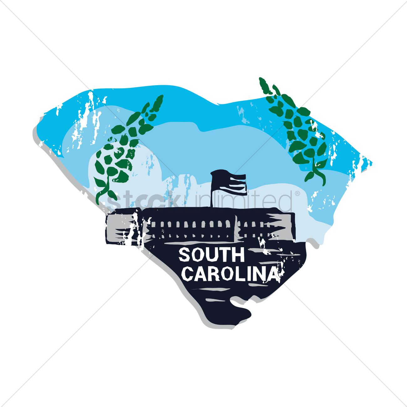 Free South Carolina State Vector Image 1551914 Stockunlimited