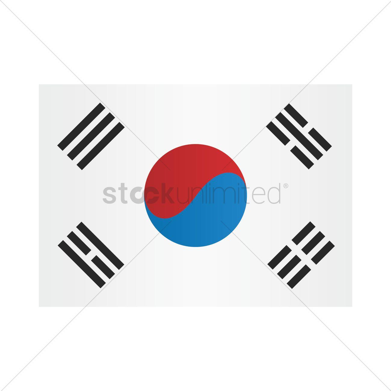 south korean flag vector image 2016306 stockunlimited rh stockunlimited com south korea flag vector download
