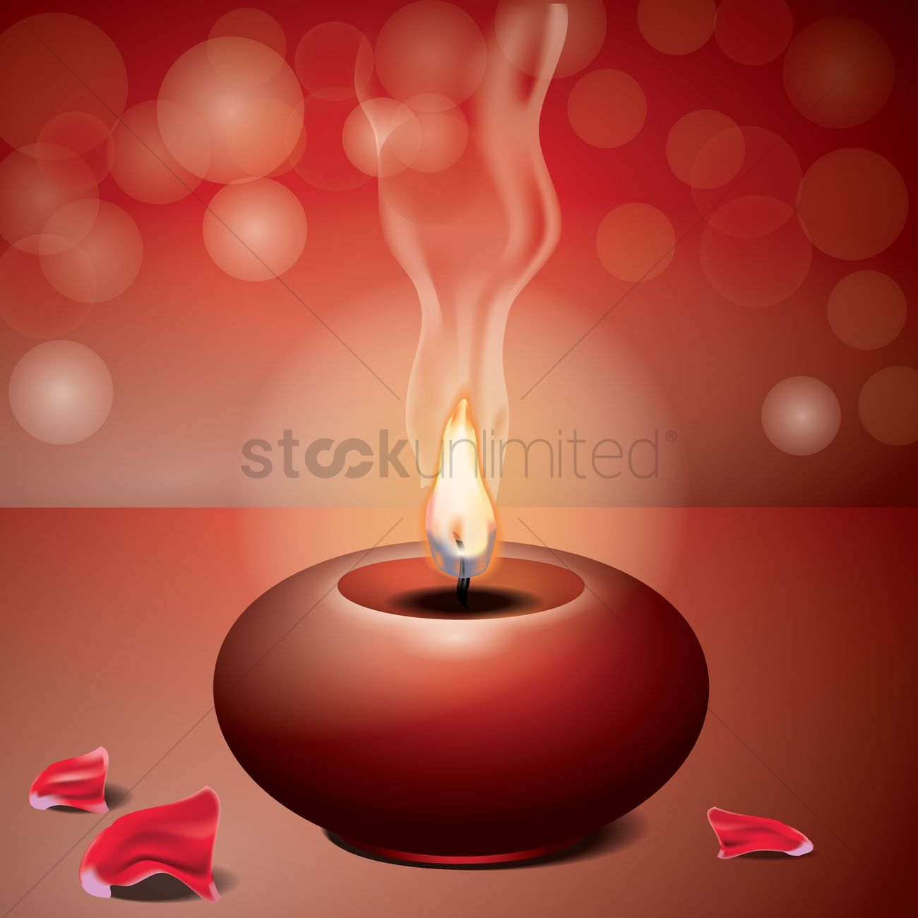 Spa Candle Wallpaper Vector Graphic