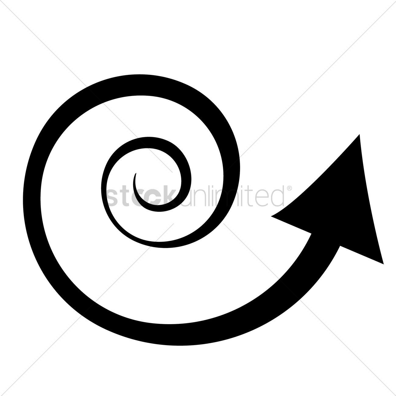 Spiral arrow Vector Image - 1378722 | StockUnlimited
