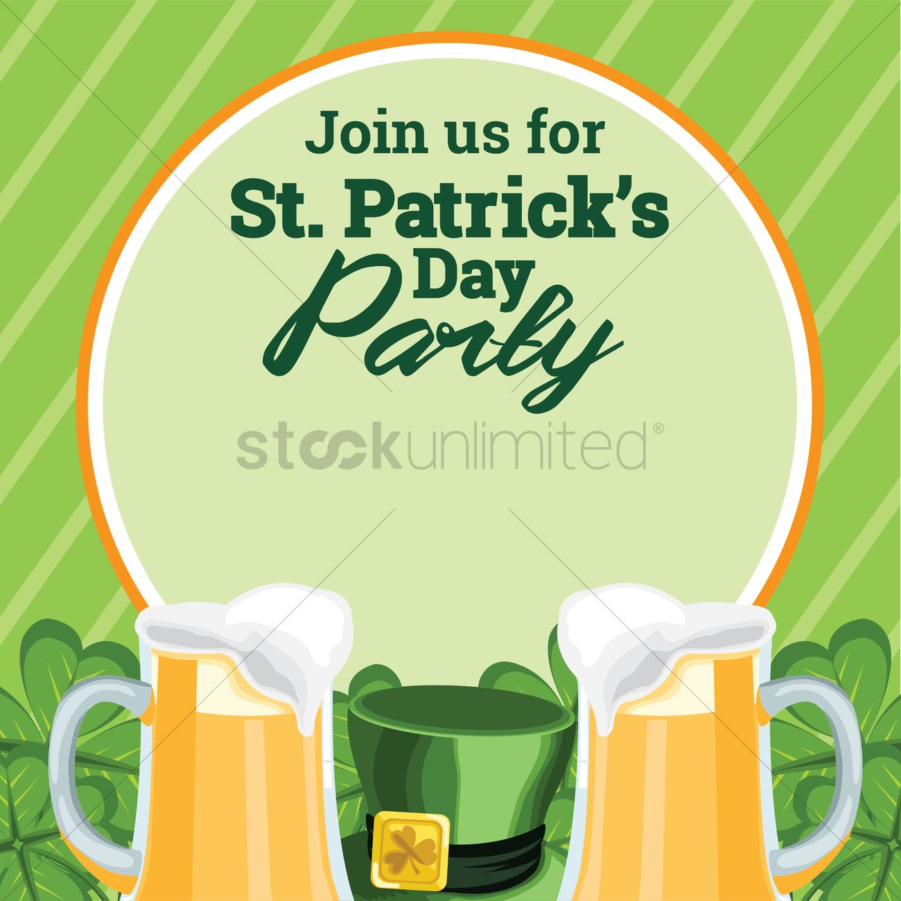St patricks day party invitation Vector Image - 1991422 | StockUnlimited