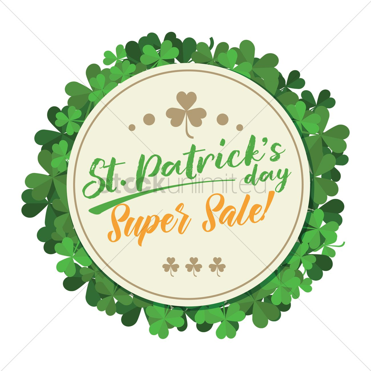 st patricks day sale vector image 1991414 stockunlimited