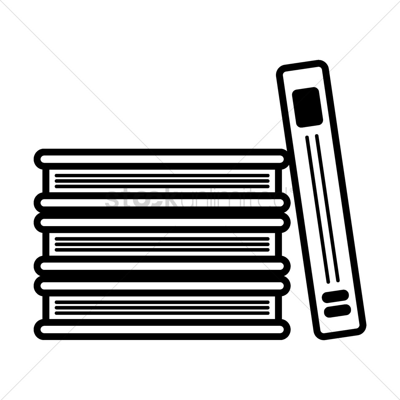 stack of books vector image 1577990 stockunlimited rh stockunlimited com