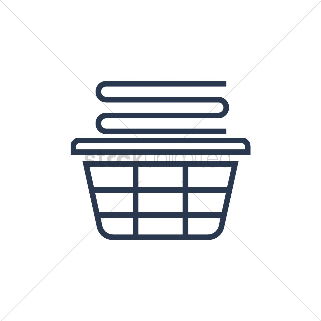 stack of folded clothes in laundry basket vector image