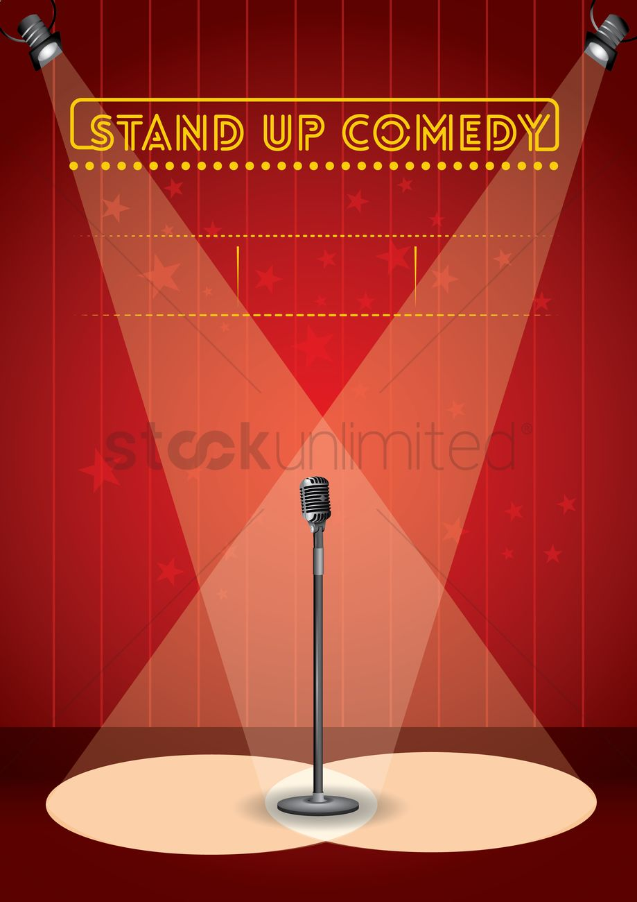 stand up comedy poster design vector graphic