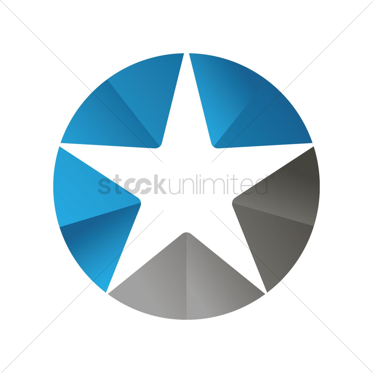 Star Inside A Circle Vector Image 1506198 Stockunlimited