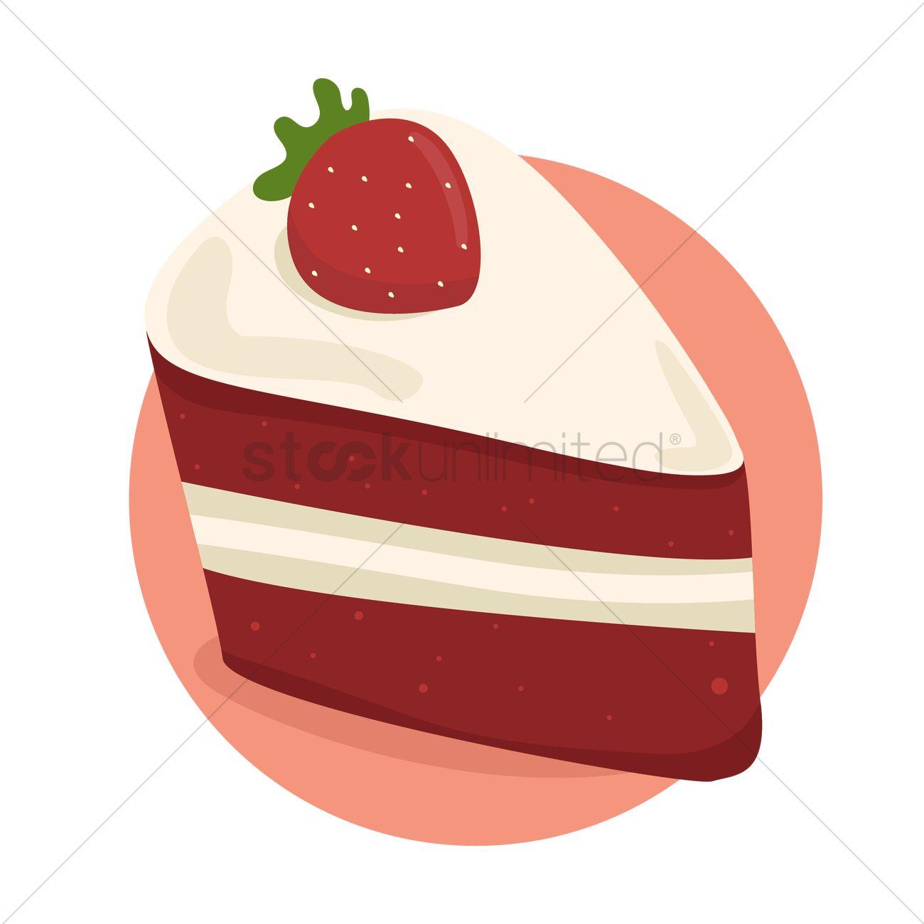 strawberry cake slice vector image 1524234 stockunlimited rh stockunlimited com slice of cake clipart slice of chocolate cake clipart