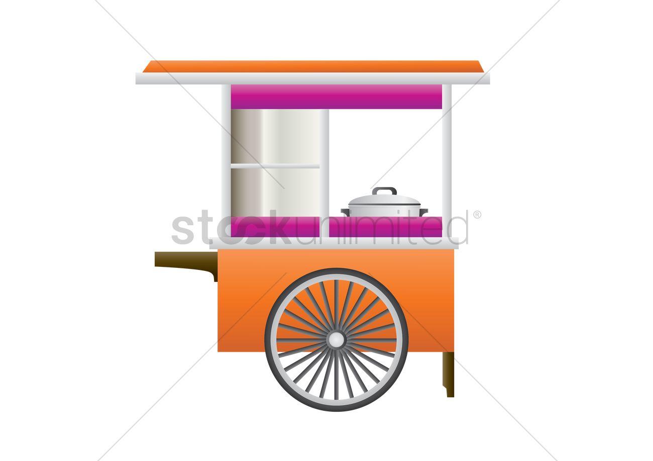 Street food cart Vector Image - 1539970 | StockUnlimited