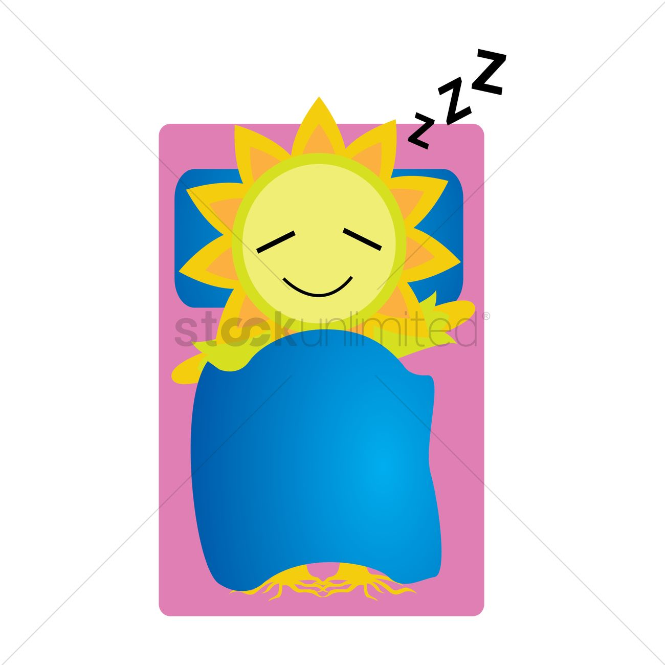 Sunflower Character Sleeping Vector Image 1427714 Stockunlimited