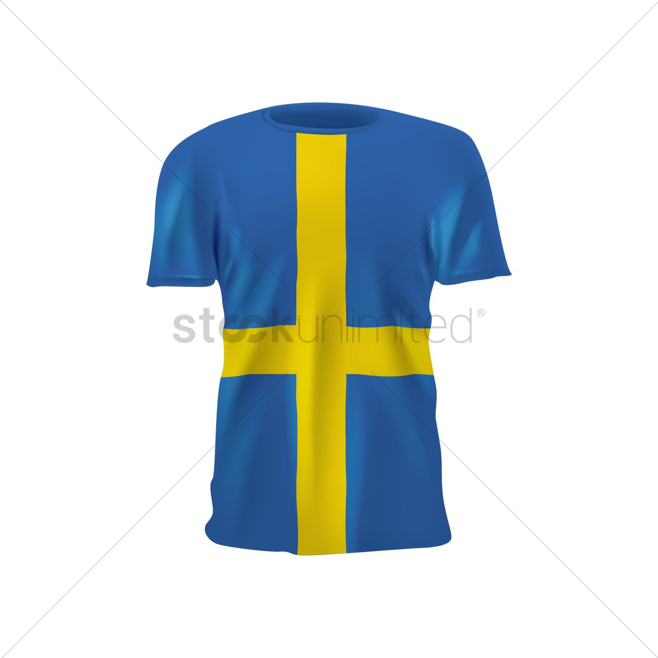 detailed look a1cea 6ef0b Sweden soccer jersey Vector Image - 1818902   StockUnlimited