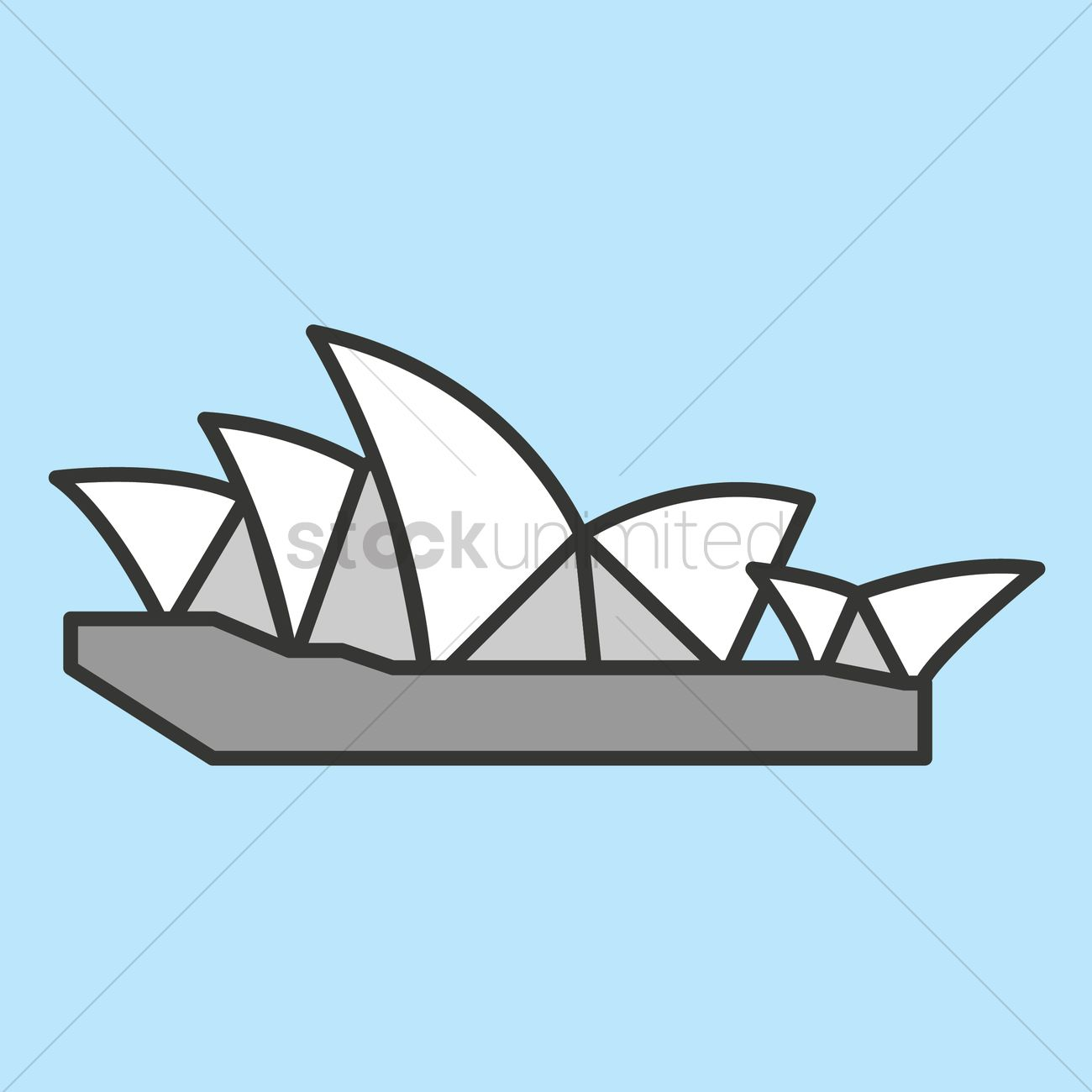 Sydney Opera House Vector Graphic